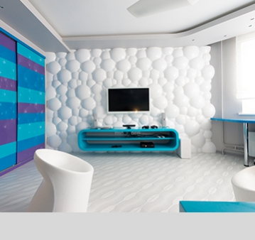3D Панели, светильники наши и под заказ